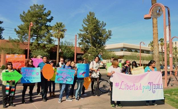protest at the ICE Phoenix_Nicoll Hernández-Polanco_0001
